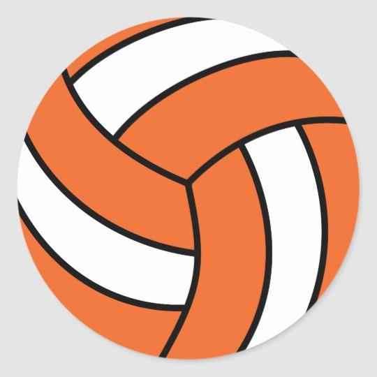 Volleyball clipart orange. Zazzle paper