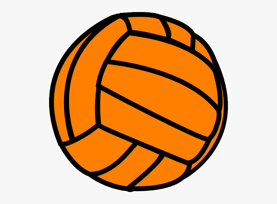 Orange clip art and. Volleyball clipart voleyball