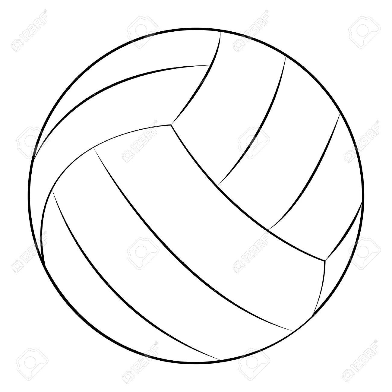 Station . Clipart volleyball outline
