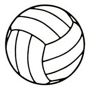 Traceable drawing clip art. Clipart volleyball outline