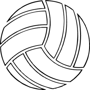 Clipart volleyball outline. Free clip art download