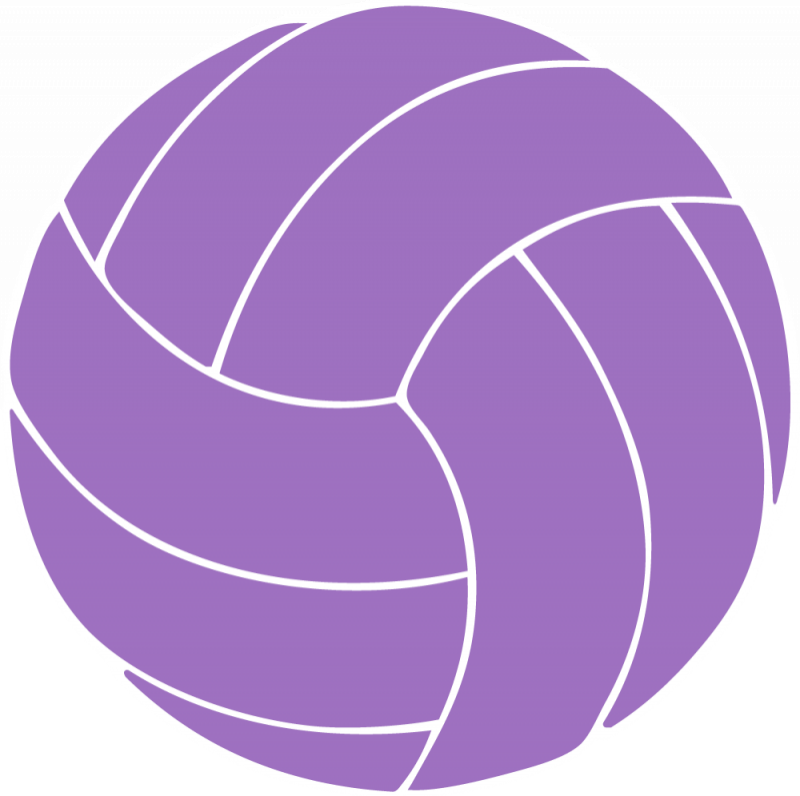 collection of purple. Hand clipart volleyball