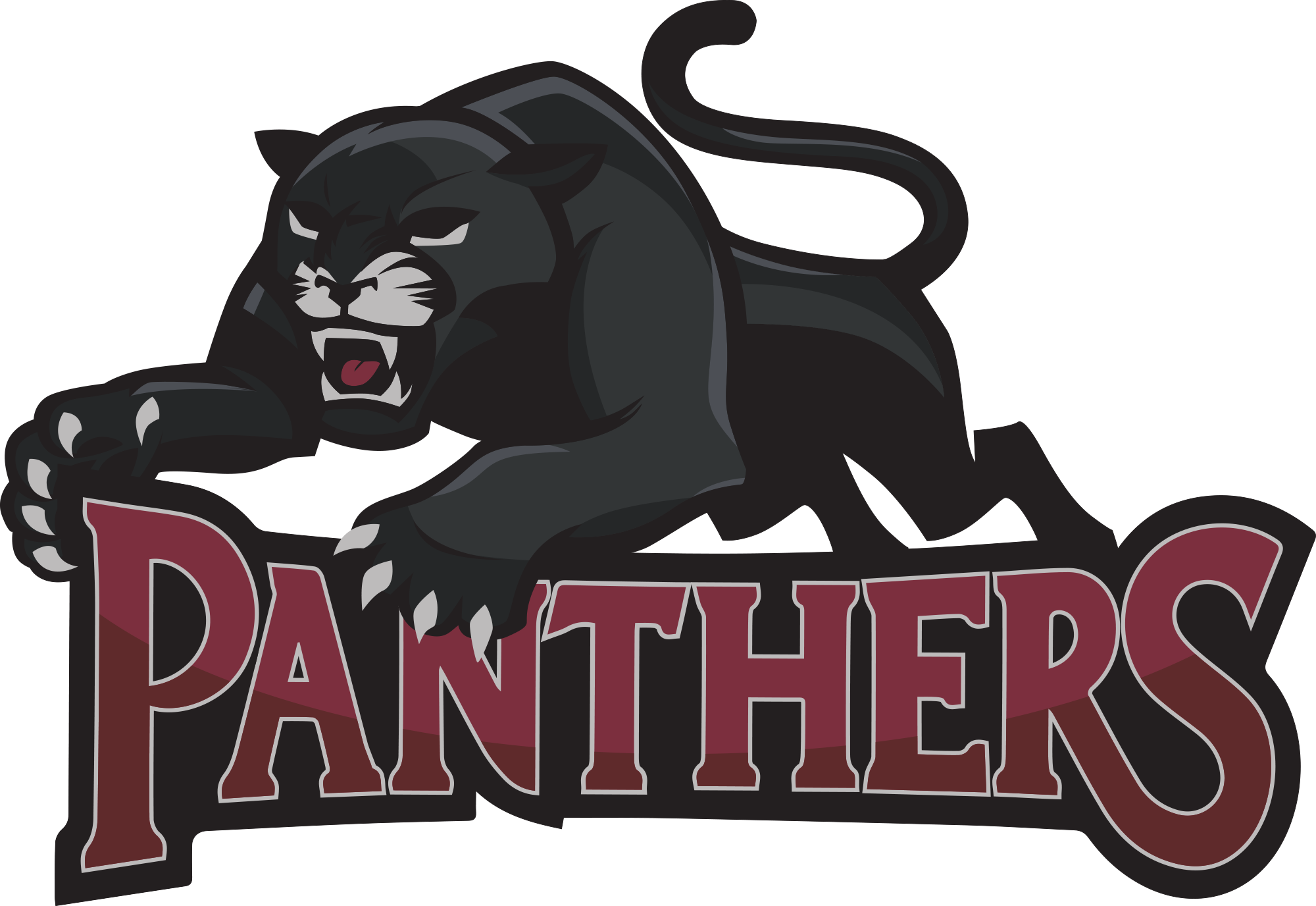 Athletics northeast bradford school. Panther clipart panther basketball