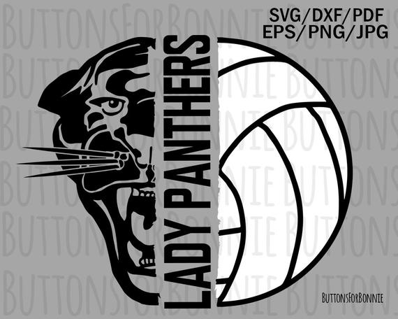 Lady panthers svg mom. Panther clipart volleyball