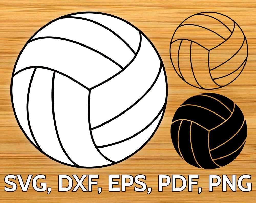 Volleyball clipart pdf. Svg files for cricut