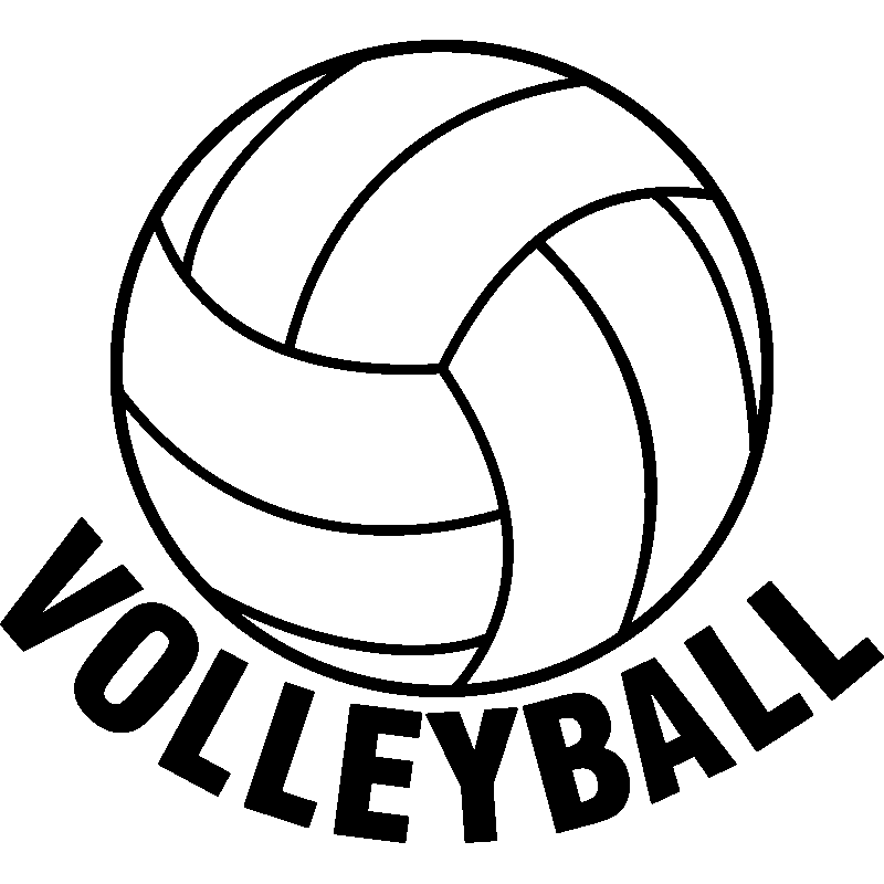 Volleyball clipart voleyball. Sticker sport clip art