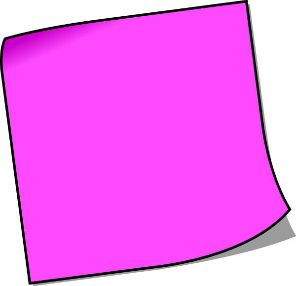 Note clipart pinned note. Colorful post it notes