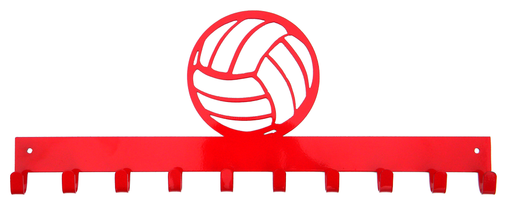Medal display sporthooks hook. Clipart volleyball red