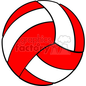 Sports equipment red white. Volleyball clipart pdf