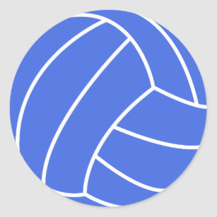 Volleyball clipart royal blue. And white classic round