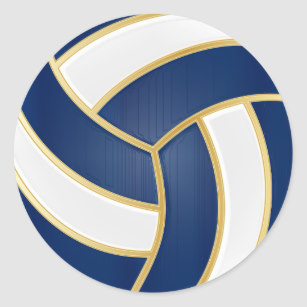Navy gold and white. Volleyball clipart royal blue