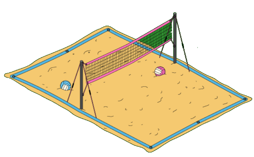 Clipart volleyball sand volleyball. Endless summer of kool