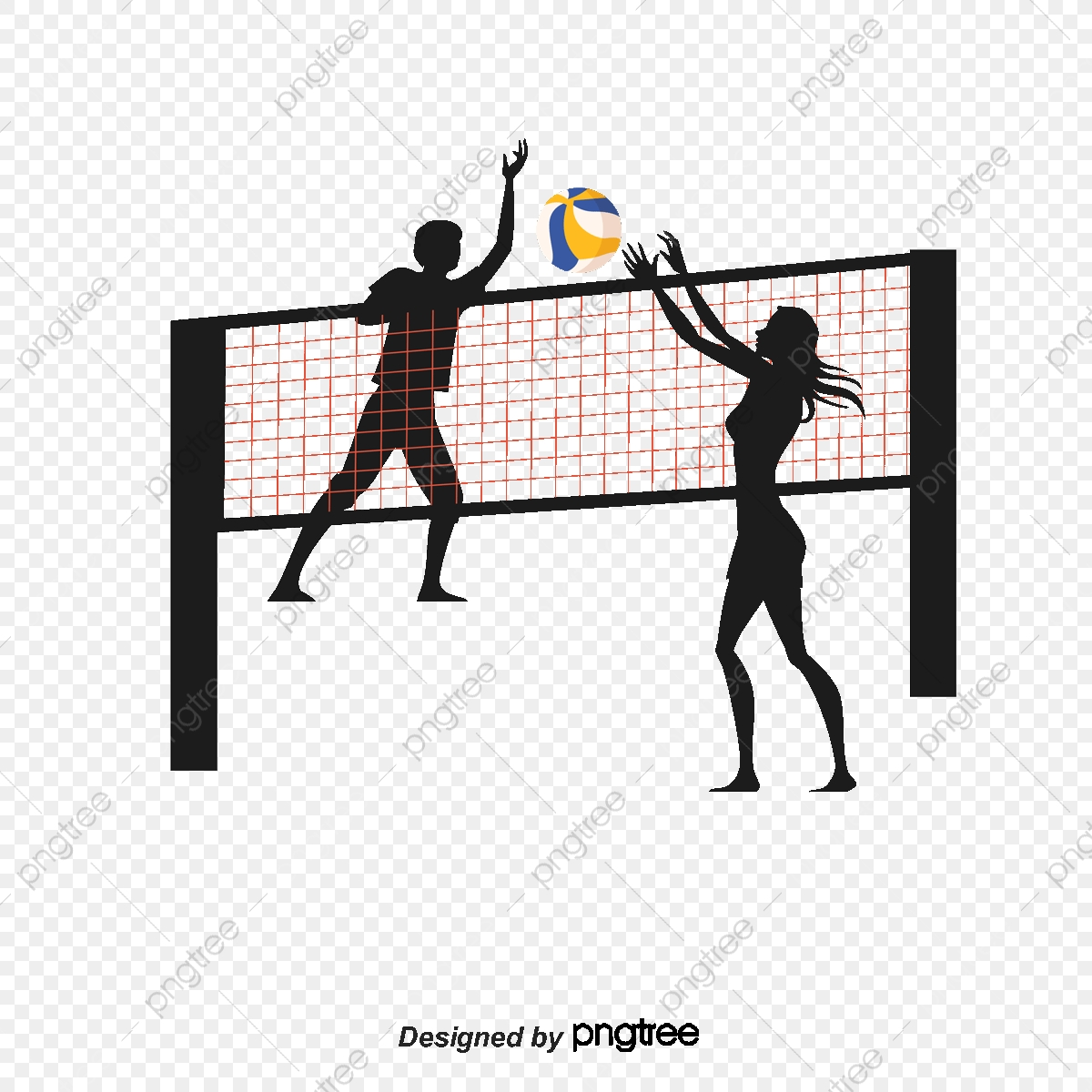 Clipart volleyball server. Smash and block the