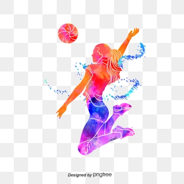 Images png format clip. Color clipart volleyball player