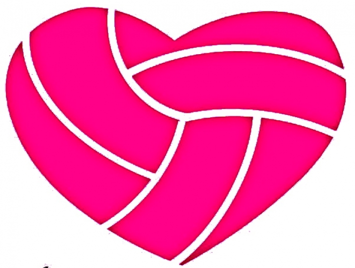 Heart shaped free download. Clipart volleyball shape
