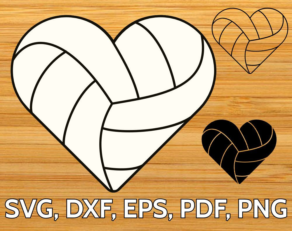 Clipart volleyball shape. Heart shaped ball svg