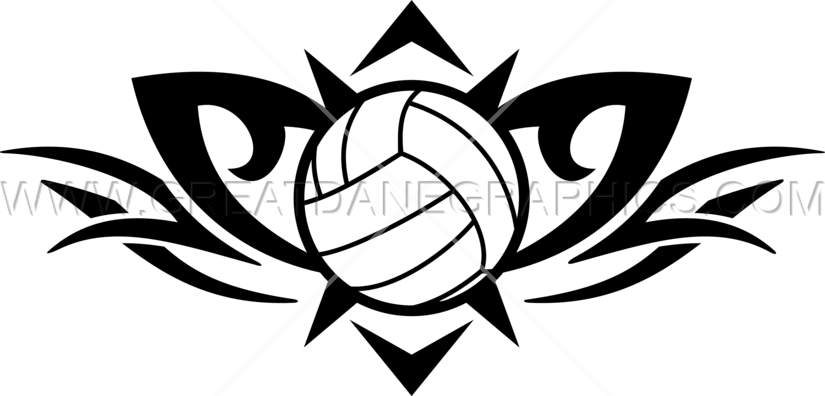 Tribal production ready artwork. Volleyball clipart design