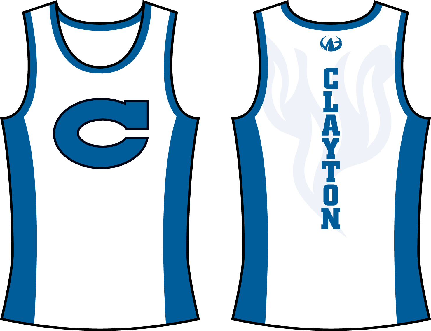 Track clipart standard. Clayton comets jersey only