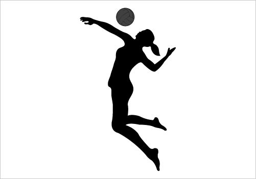 Clipart volleyball silhouette. Google search