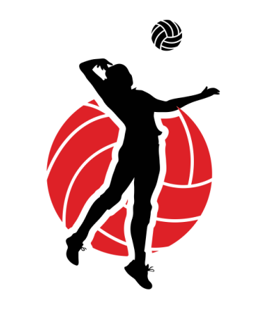 Red . Clipart volleyball silhouette