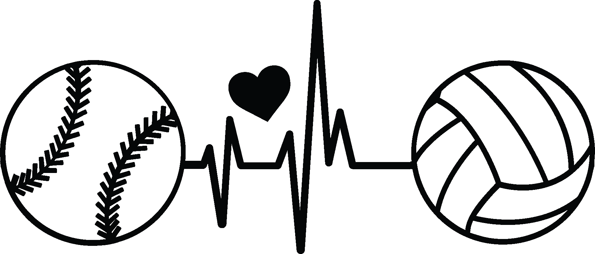 Clipart Volleyball With Heart | Free Images at Clker.com - vector clip art  online, royalty free & public domain