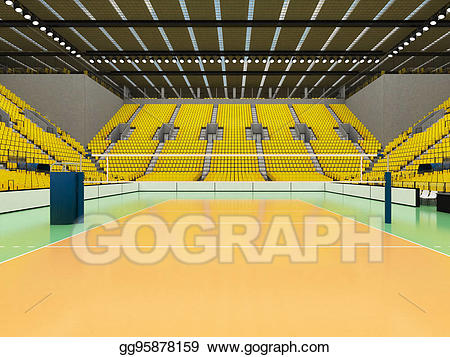 Beautiful sports arena for. Clipart volleyball stadium