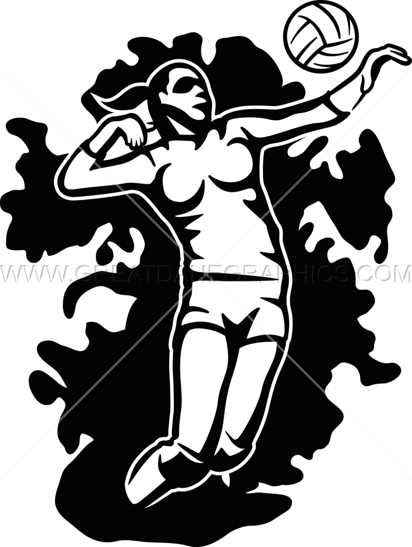 Scribble production ready artwork. Volleyball clipart stencil