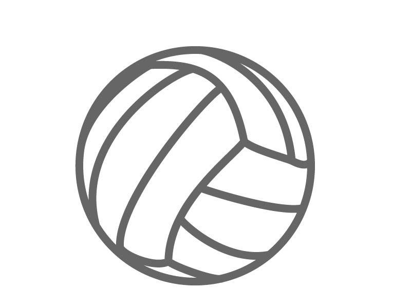 Cakes . Volleyball clipart stencil