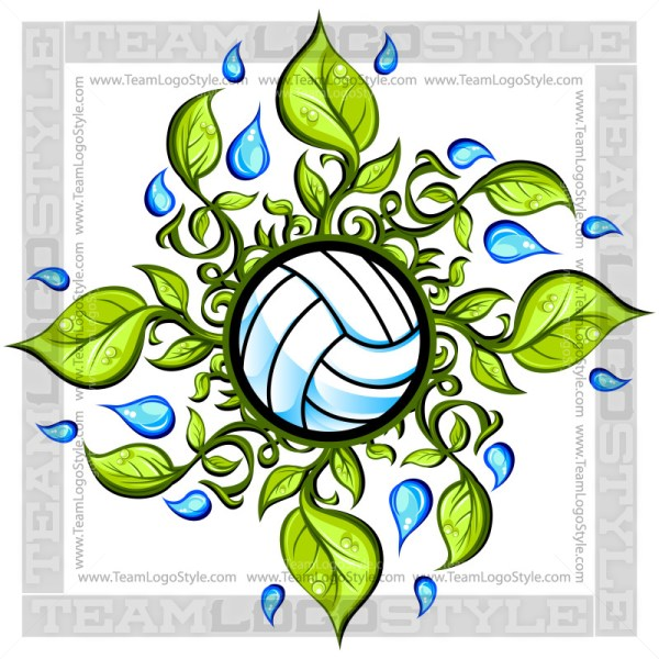 Leaves graphic vector . Clipart volleyball summer