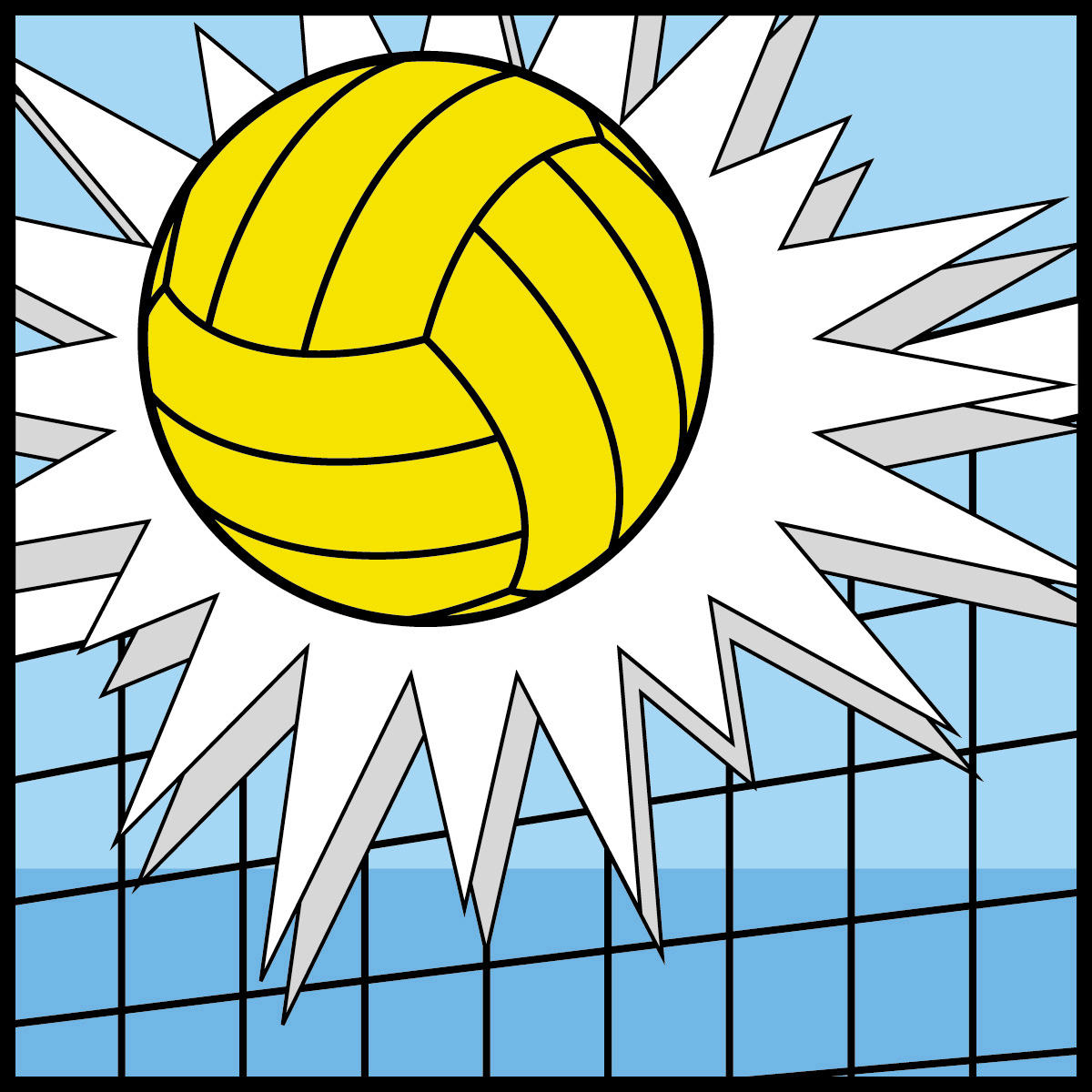 Free summer cliparts download. Volleyball clipart water