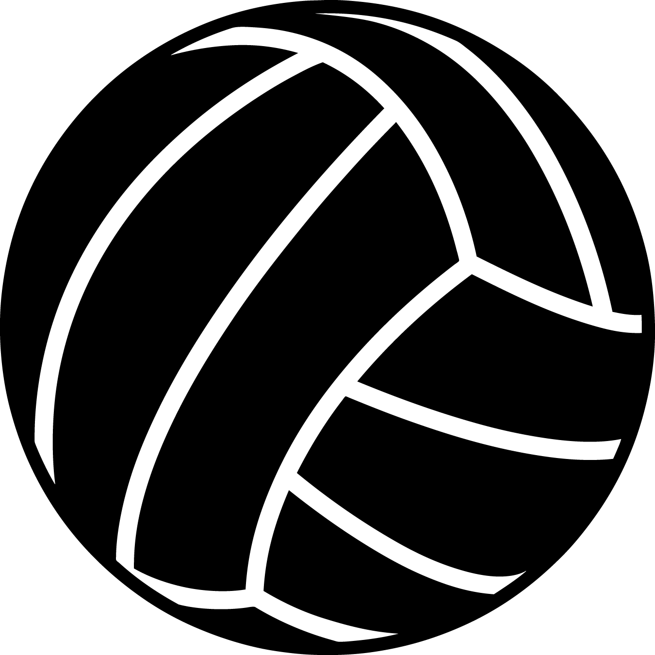 Clipart volleyball vector. Black pencil and in