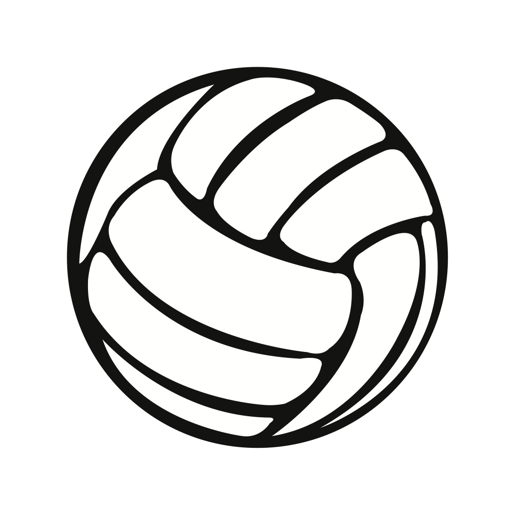 Free vector art download. Volleyball clipart line