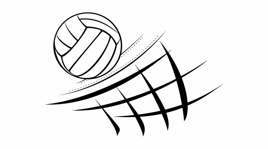 Black png image and. Volleyball clipart line art
