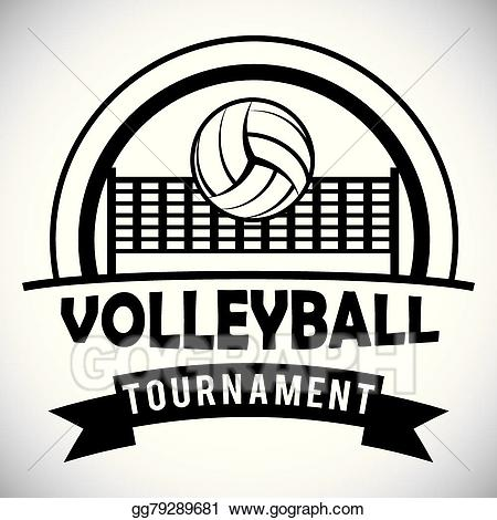 Clipart volleyball volleyball competition. Vector stock design illustration