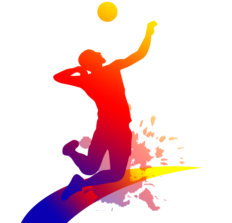 Color clipart volleyball player. Clip art people playing