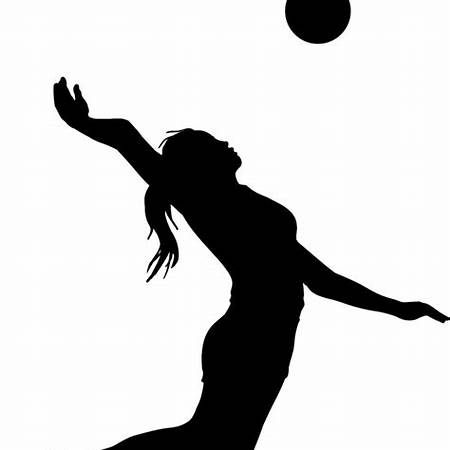 Player silhouette clip art. Clipart volleyball volleyball hitter