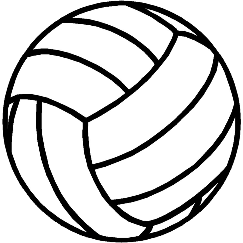 Home. Volleyball clipart black and white