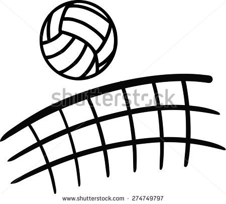 Clipart volleyball volleyball net. Stock vectors vector clip