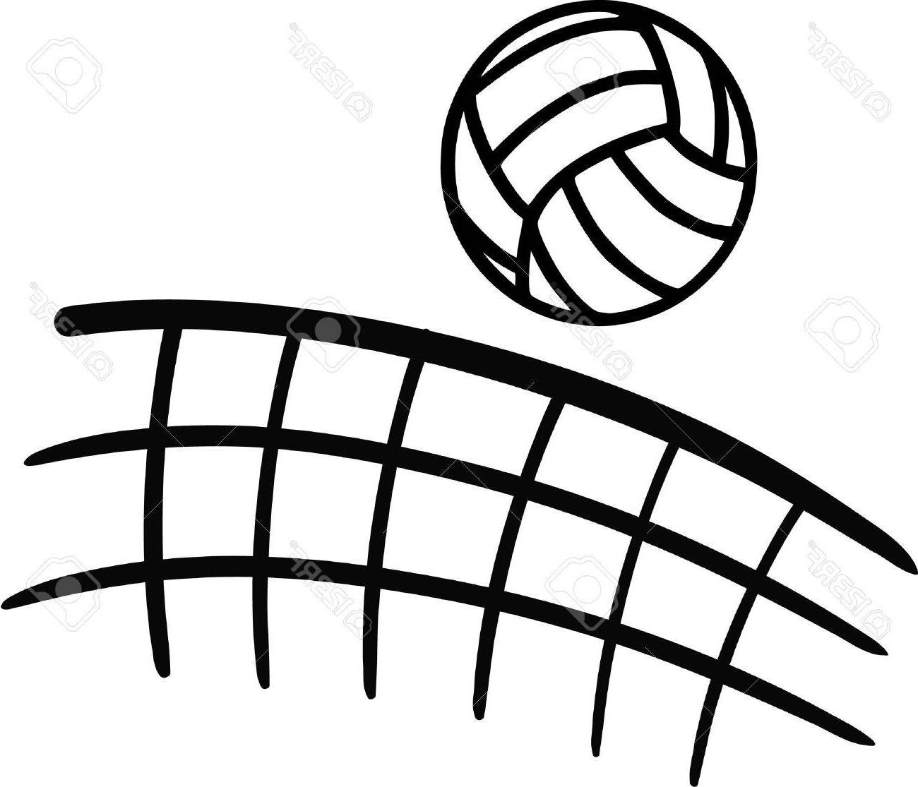 Hd sketch vector pictures. Clipart volleyball volleyball net