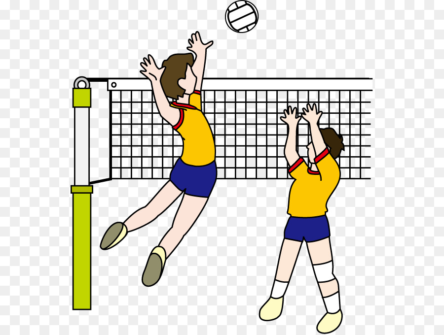 School line art yellow. Clipart volleyball volleyball team
