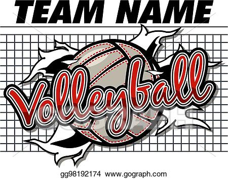 Vector design illustration . Clipart volleyball volleyball team