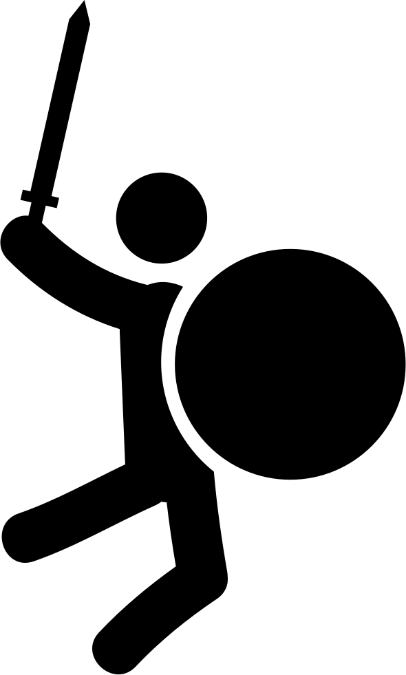 Volleyball clipart warrior. Fighting svg png icon