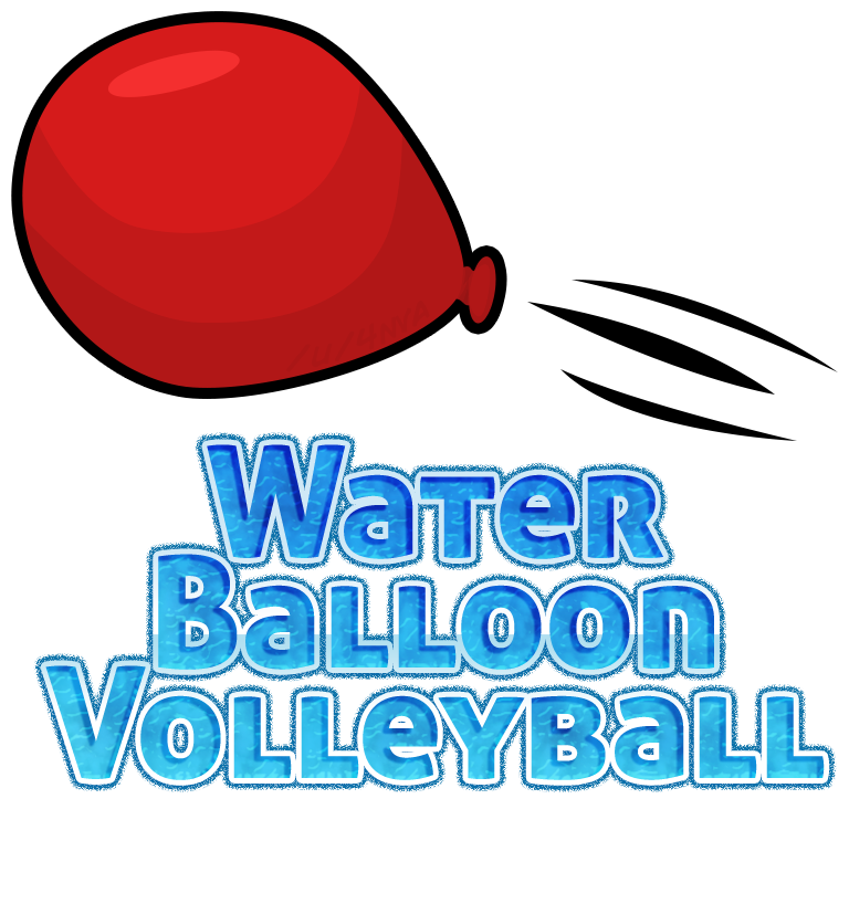 Volleyball clipart water. Games bsbc balloon logo