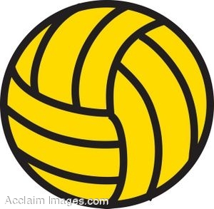 Clip art library . Volleyball clipart yellow