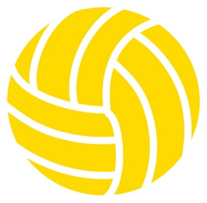 Volleyball clipart yellow. Image clip art illustration