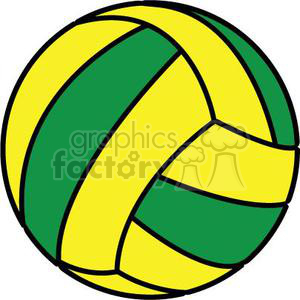 Green royalty free . Clipart volleyball yellow