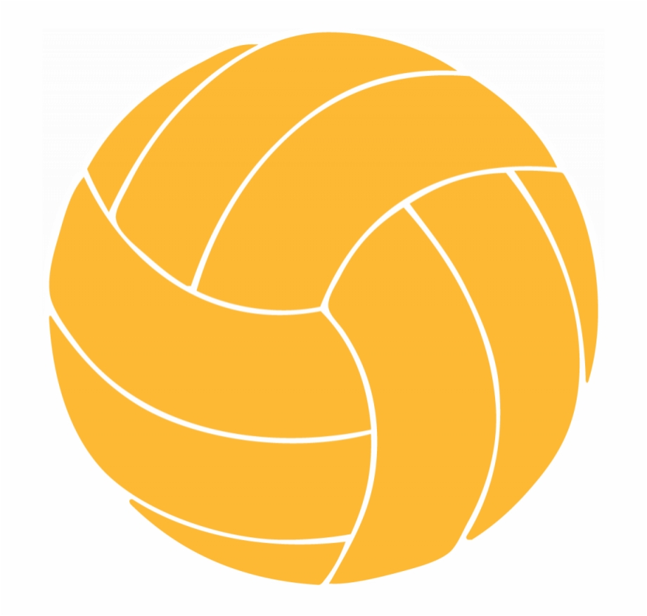 Yellow . Volleyball clipart orange