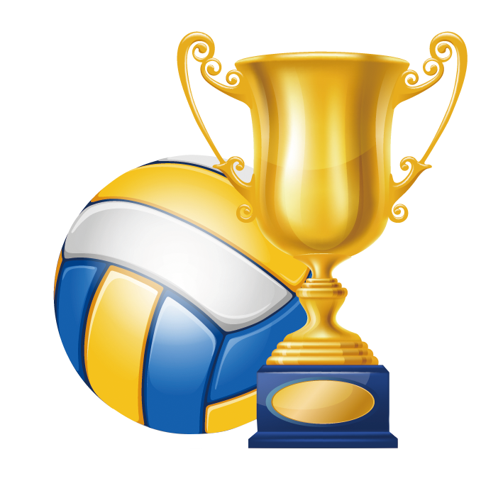 Clipart volleyball yellow. Trophy champion clip art