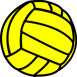 Clip art at clker. Volleyball clipart yellow