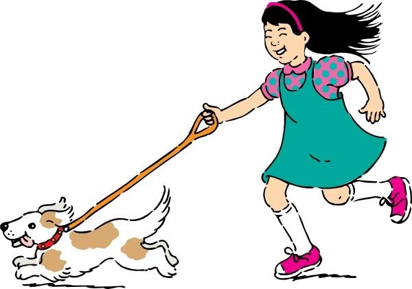 Clipart walking. Dog clip art free